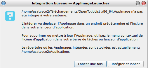 Installer AppImage